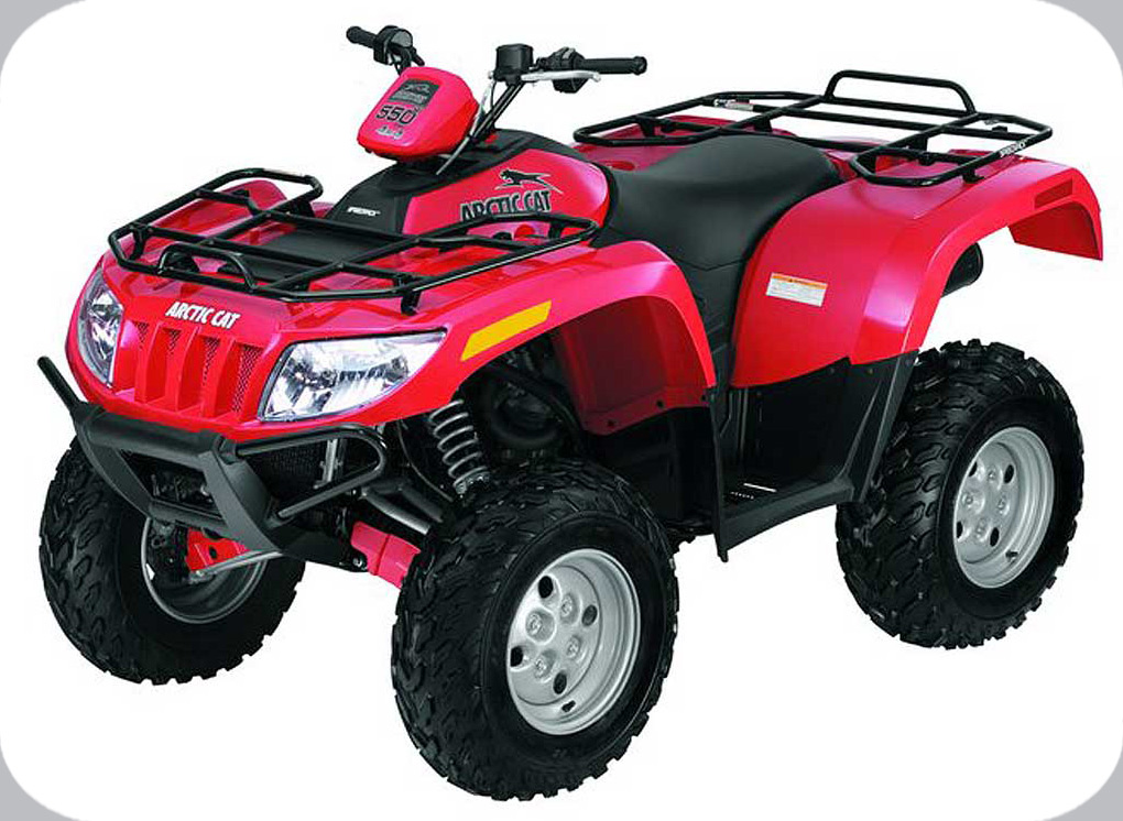 2009 Arctic Cat 550 H1 EFI 4x4 Automatic (red)