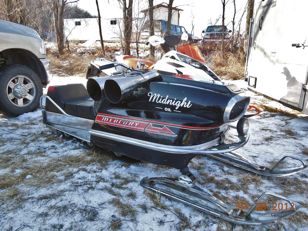 Just A Car Guy: The Midnight Oil racing Mercury Snowmobile