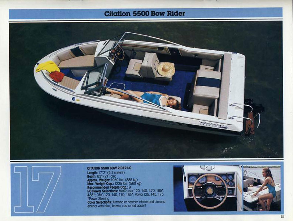 1983 LARSON CITATION 5500 BR I/ ...