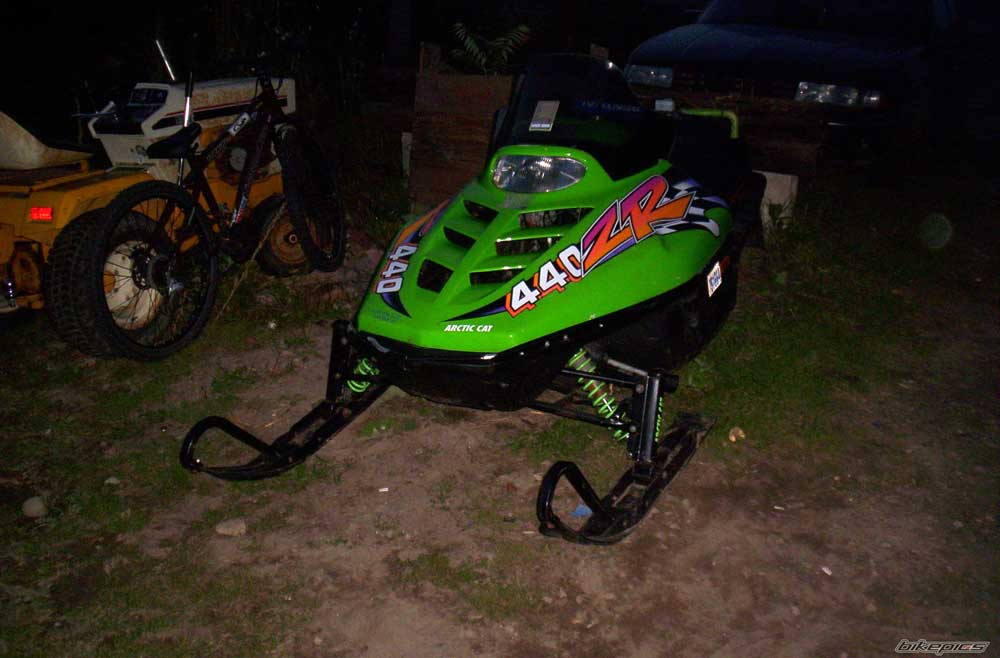 1996 arctic cat zr440 436cc l/c (green)
